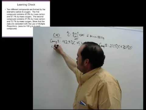 Law of Multiple Proportions Example Lecture Capture Video - YouTube