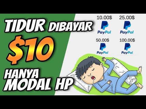DIBAYAR $10 HANYA TIDUR AJA BARU RILIS APLIKASI PENGHASIL UANG TANPA REFFERAL