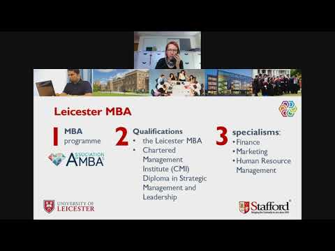 University of Leicester MBA (Middle East) Webinar - 22 August 2017