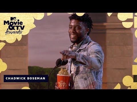 Chadwick Boseman Wins Best Hero & Honors James Shaw Jr.   2018 MTV Movie & TV Awards