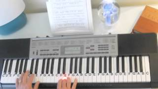 How to Play ~ Cornerstone ~ Hillsong United ~ LetterNotePlayer ©