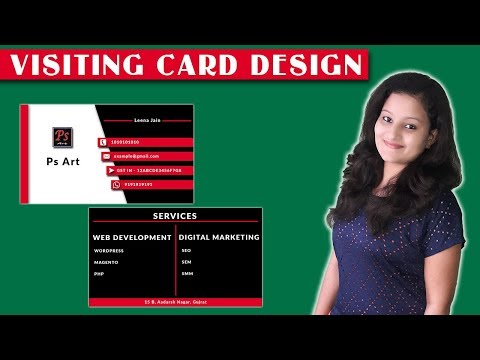 Business Card Design | How to Create Visiting Card in Photoshop By Leena Jain thumbnail