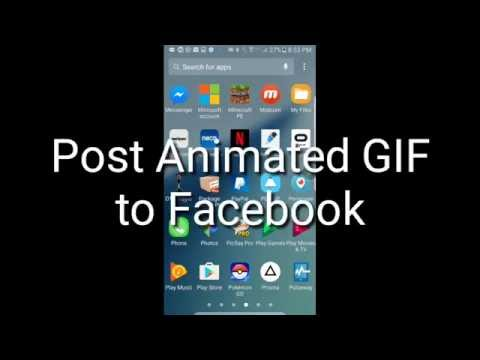 Samsung Galaxy Note 7 - How To  Post Animated GIF On Facebook