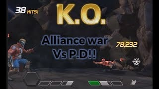 Alliance war vs P.D With Karnak,Iceman and Star lord  | Marvel Contest Of Champions