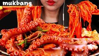 낙지초무침 비빔국수 먹방🐙SpicySeafood& bibim guksu Eatingshow mukbang asmr