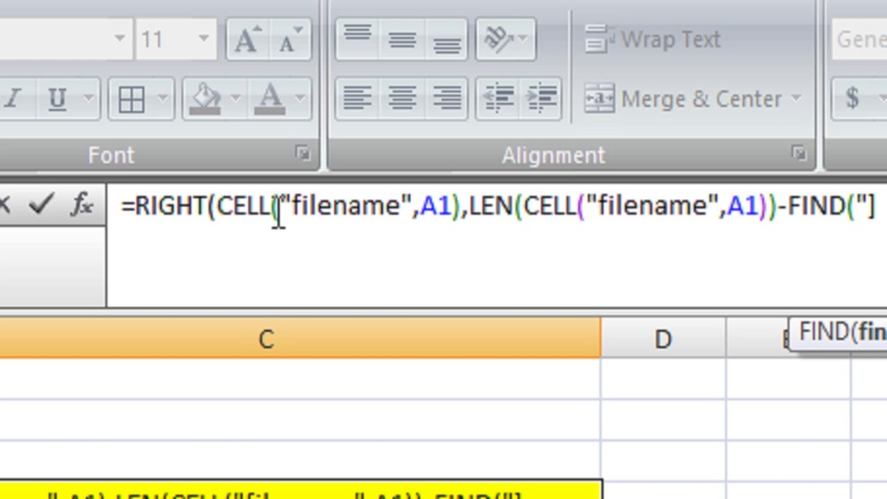 Get Sheet Name in Microsoft Excel