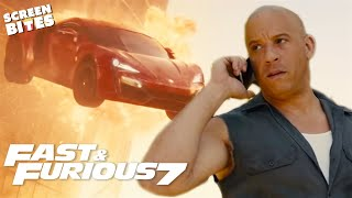 CARS DON'T FLY   Craziest Moments   Furious 7   Screen Bites