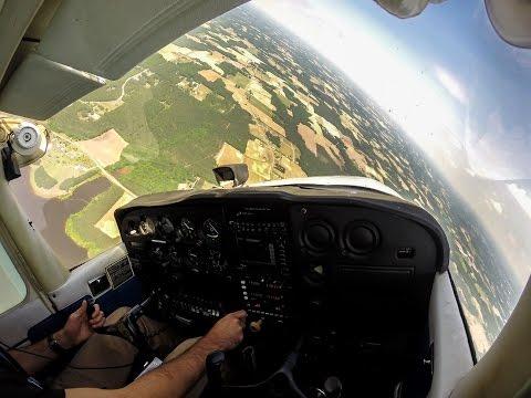 GoPro HD Flight - Take-off - Steep Turns - Landing - Cessna 172