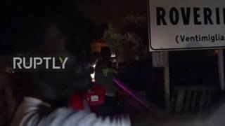 Italy: Police use tear gas as refugees try to cross French border