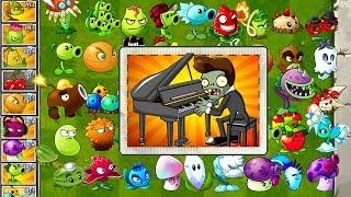Every Plant Power-Up! Plants vs Zombies 0 vs Piano Zombie PVZ (Plantas Contra Zombies 0)