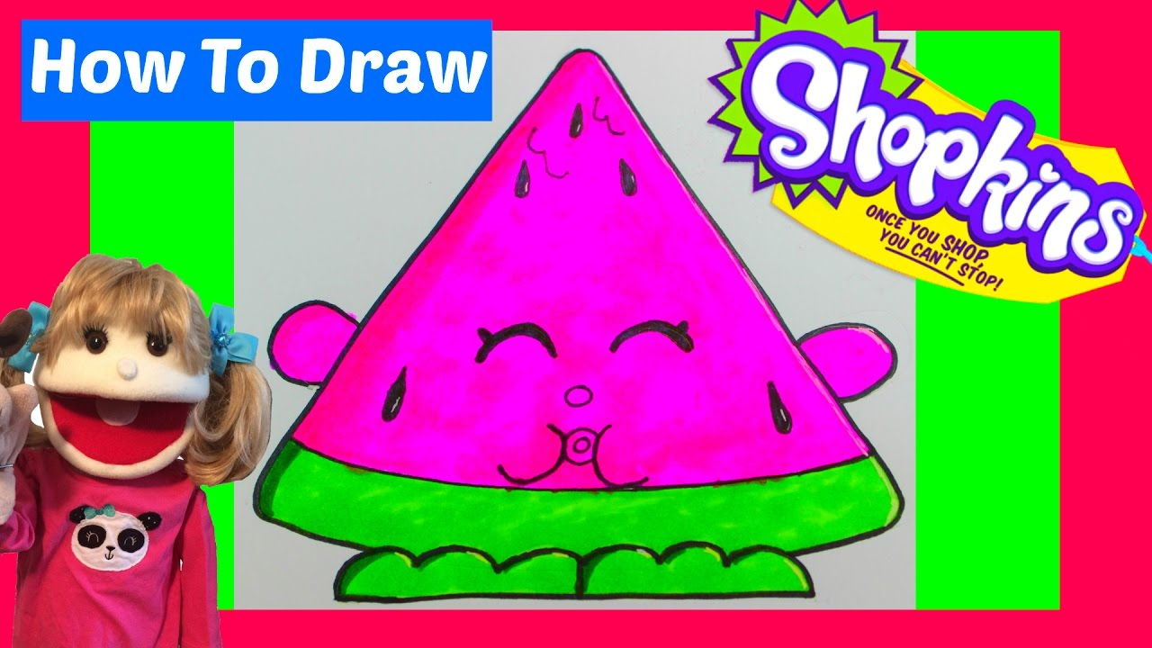 How To Draw Shopkins Season 7 Melonie Pips Step By Step Easy Drawing