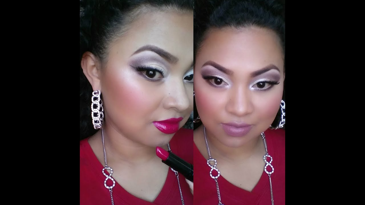 Maquillaje para una boda de noche vestido rojo