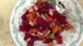 Винегрет по  диетe Дюкана-этап Круиз. Beet salad according to Dukan diet-the Cruise Phase