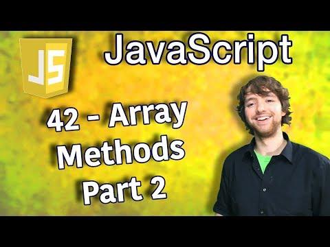 JavaScript Programming Tutorial 42 - Array Methods Part 2 thumbnail