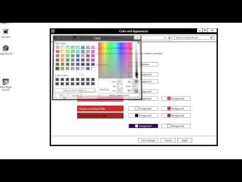 Change Windows 8 Color Scheme