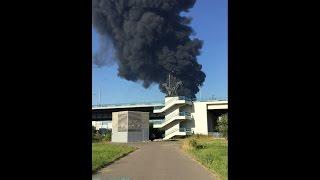 Пожар на Москва-Реке Марьино Братеево 12.08.2015 (горит нефтепровод)