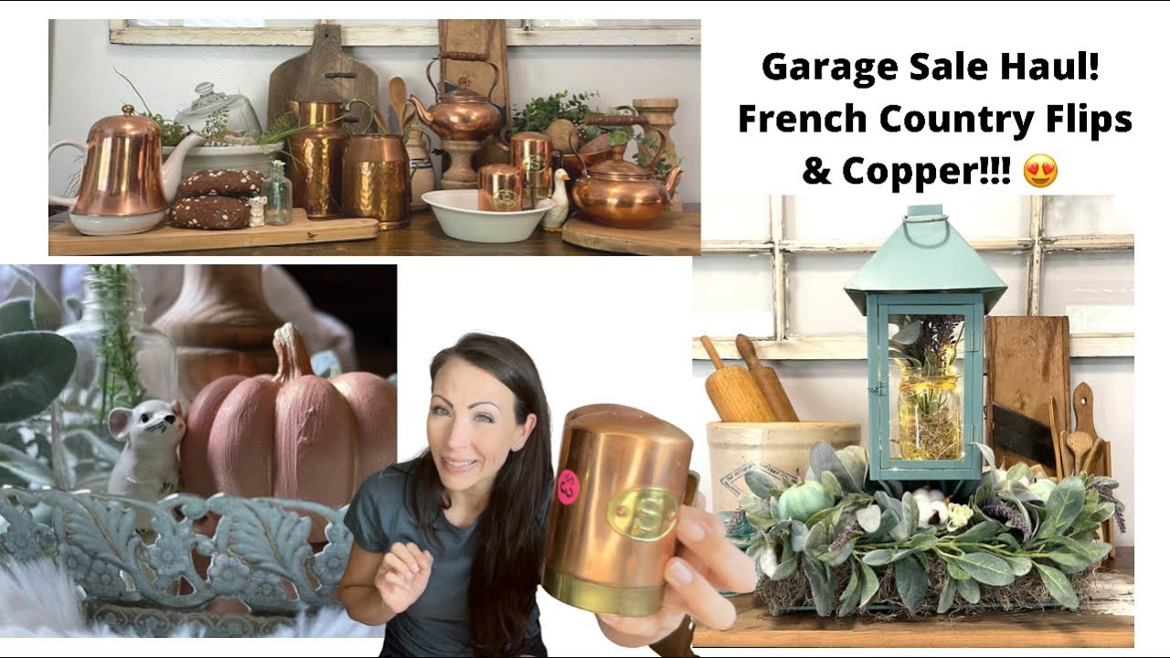 Cottagecore | Farmhouse | French Country | Flip For Profit!  | Part 1 - Garage Sale Haul and Flips!