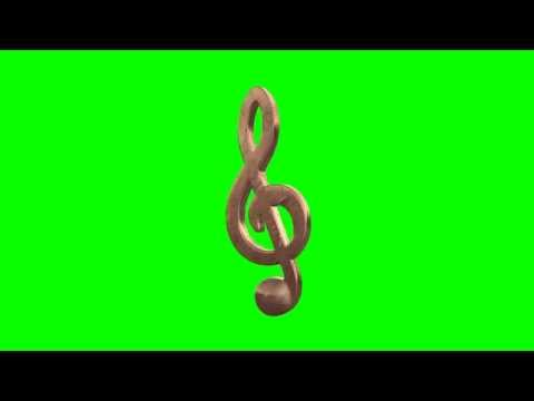 music note gold in green screen free stock footage
