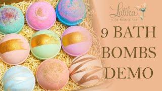Latika - Bath bombs gift set - 9 bath bomb box