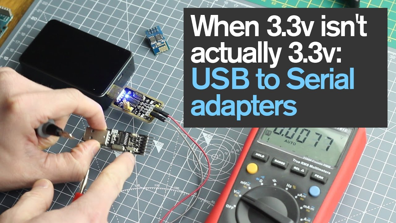 When 3.3v isn\'t actually 3.3v: USB to Serial adapters - YouTube