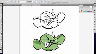 Cartoon brush and colour effect in Adobe Illustrator CS5