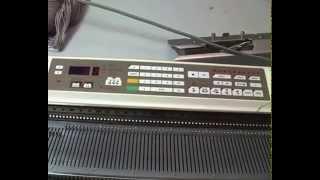 Видео урок по работе с вязальной машиной  Brother KH 940