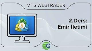 GCM MT5 WebTrader VİOP - 2.Ders: Emir İletimi