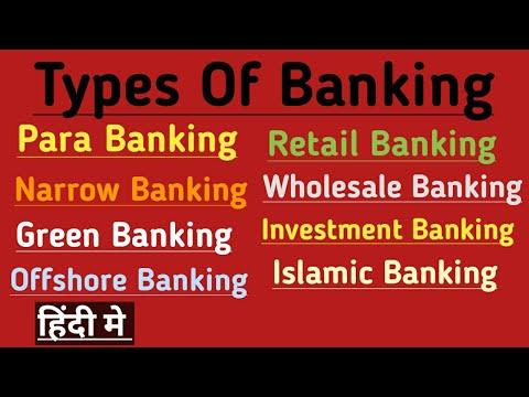 Types of Banking in Hindi   Para Banking  Narrow Banking  Offshore  Retail Wholesale Islamic Banking