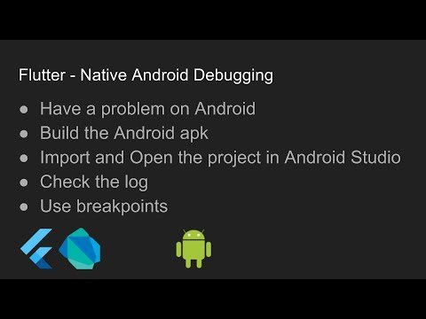 Flutter - Native Android Debugging
