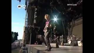 Beck live - Loser slide intro mashup (UK 2003)