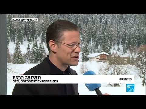 France 24 interview with Badr Jafar at Davos 2018