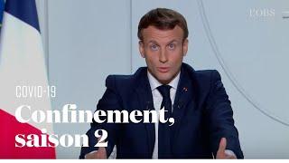 Le reconfinement national annoncé par Macron face à la deuxième vague du Covid-19