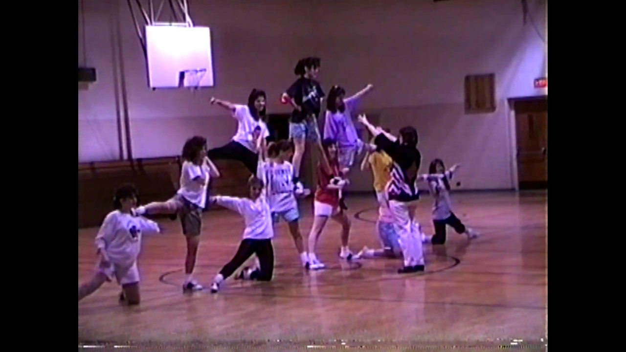 NCCS Varsity Cheerleading Practice   March, 1989