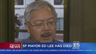 MAYOR LEE DIES:  San Francisco mayor Ed Lee dies suddenly early Tuesday