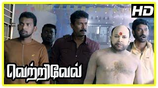 Vetrivel tamil movie | scenes | Samuthirakani and friends wrongly kidnap Nikhila | Sasikumar