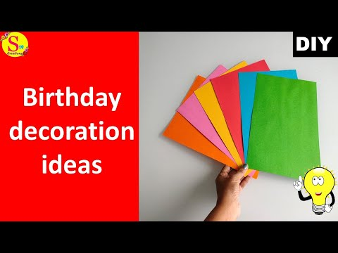 paper-craft-ideas-for-birthday-decoration-|-diy-wall-decor-ideas-using-a4-colour-papers