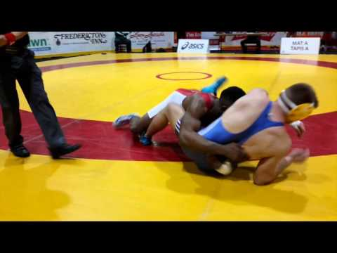 2016 Canadian Junior Championships: 74 kg Chance Mutuku vs. Matthew Kulak