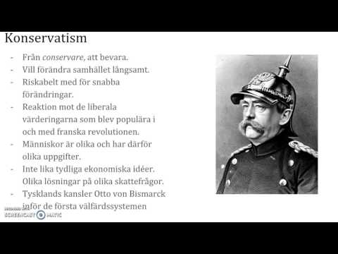 Ideologier del I: Liberalism, konservatism och socialism.