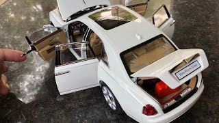Diecast Unboxing-2014 Rolls Royce Ghost (rare) 1/18 Kyosho RollsRoyce Collections Ft India Video