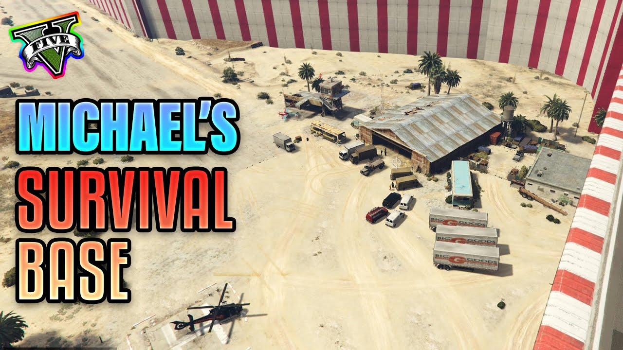 Michael's survival base | Michael vs Franklin GTA 5