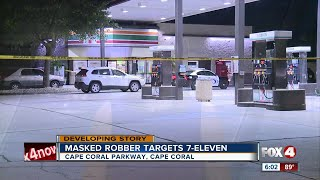 Police search for man after he robs Cape Coral gas station