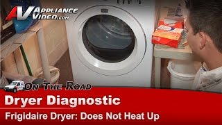 Frigidaire ,Electrolux  Dryer Diagnostic - not heat & not drying clothes - FAQE7011KWO(Troubleshoot your own Frigidaire Dryer which has the following issues: Does not heat up At: http://www.appliancevideo.com In order to complete the repair you ..., 2013-07-12T04:05:26.000Z)
