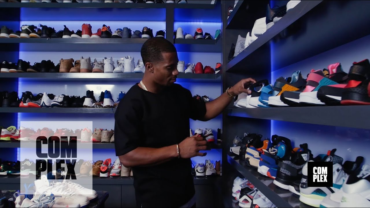 Complex Closets Victor Cruz Shows Us His Crazy Sneaker Collection