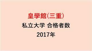 皇學館高校 大学合格者数 2017~2014年【グラフでわかる】