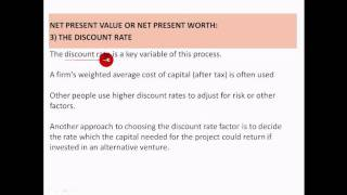 Net Present Value (Net Present Worth) - Explanation and calculation in excel