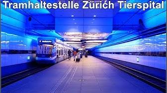 Zürich U-Bahn Station / Tramhaltestelle Zürich Tierspital
