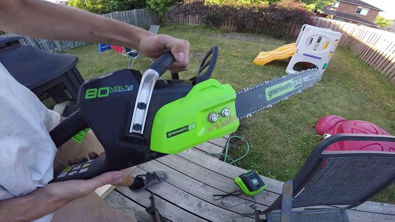 GreenWorks Pro 80V chainsaw