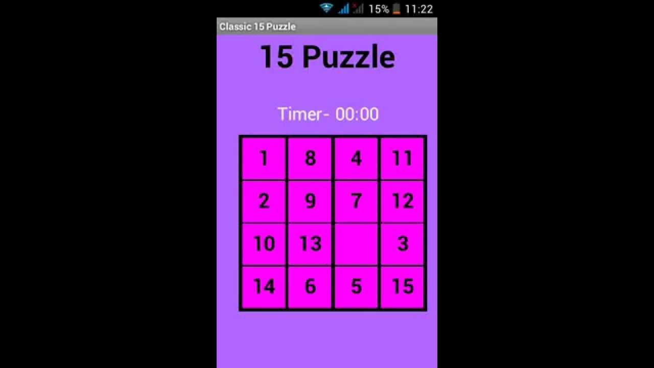 Classic 15 Puzzle Game Tutorial