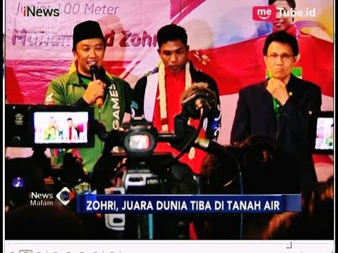 Menpora Kalungkan Bunga Saat Sambut Kedatangan Lalu Muhammad Zohri - iNews Malam 17/07
