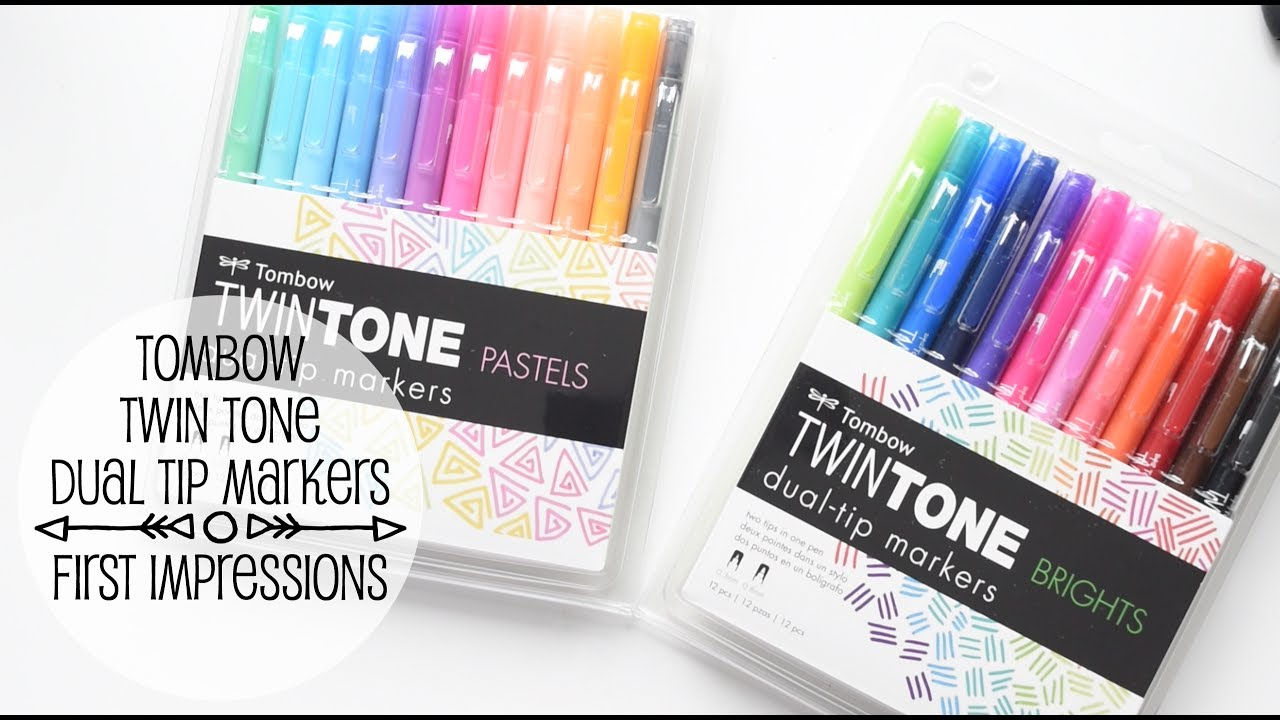 Tombow Twin Tone Markers First Impressions YouTube - Tombow abt markers